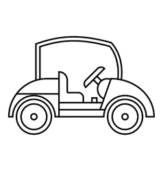 Golf car icon outline style vector