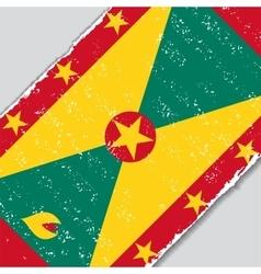 Grenada grunge flag vector