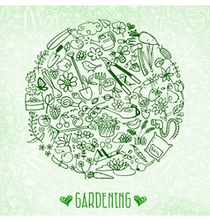 hand drawn garden background vector image