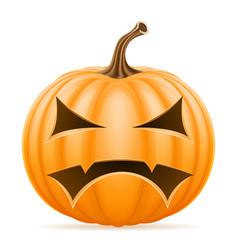 horrible pumpkin halloween stock vector image