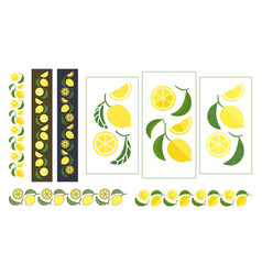 Lemon colored ornament vector