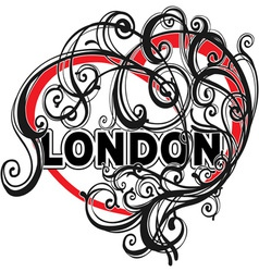 London doodle heart shape vector image vector image
