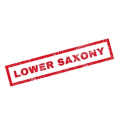 Lower saxony rubber stamp vector