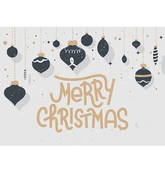 Merry christmas lettering typographic greeting vector