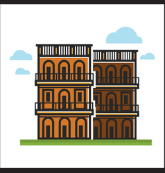 modern city houses vector image