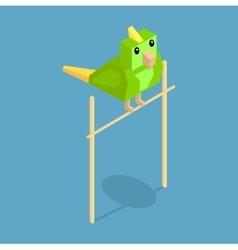Pets Parrot Icon Isometric 3d Design vector image