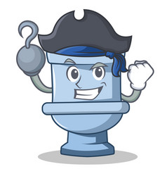 Pirate toilet character cartoon style vector