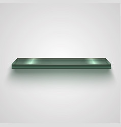 realistic glass shiny shelf vector image
