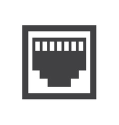 Rj45 icon vector
