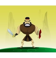 Roman in cartoon style vector image