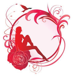 round rose girl Converted vector image vector image