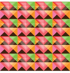 Seamless colorful triangle pattern design vector image