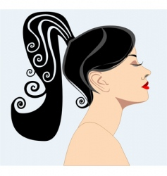 silhouette of a women vector image