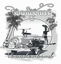 Thunderbird surf vector
