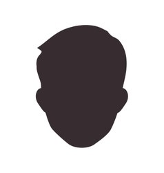 Man head silhouette icon avatar male design vector