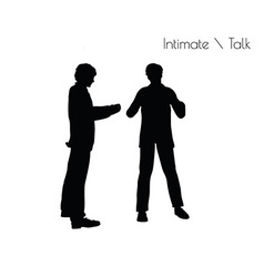 Man in conversation intimate talk pose vector