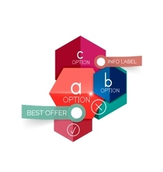Geometric business infographics templates vector