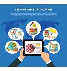Seo services worldwide concept vector