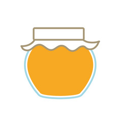 Sweet and organic honey vector