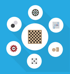 Flat icon games set of arrow backgammon chequer vector