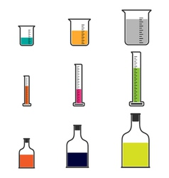 Science beakers vector