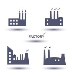Factory icon set vector