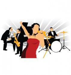 Jazz singer vector