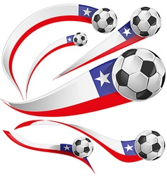 Chile flag with soccer ball vector