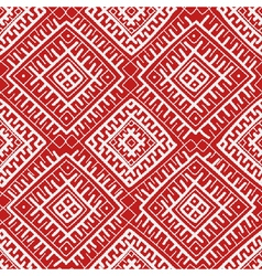 Red russian ethnic seamless pattern vector