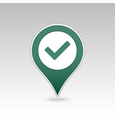 Check pin map icon map pointer markers vector