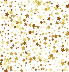 Gold star seamless pattern vector