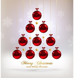 Abstract christmas tree design vector