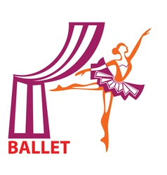 ballet sign vector image