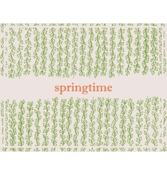 Spring background with plant vector