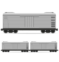 Railway carriage 09 vector