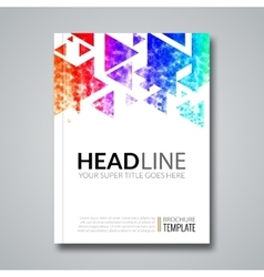Cover report colorful geometric prospectus design vector