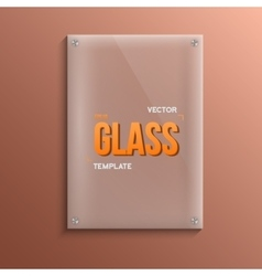 Realistic glass plate template icon eps10 vector