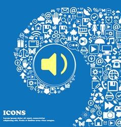 Speaker volume sound sign symbol nice set of vector