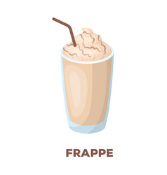 A glass of frappedifferent types of coffee single vector