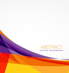 Abstract colorful background with shapes vector