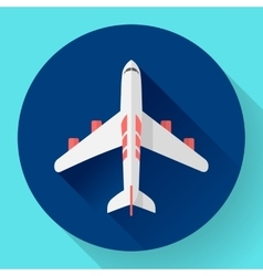 Airplane - icon Flat design vector image vector image