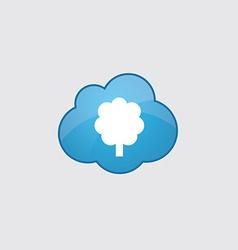 Blue tree icon vector image vector image