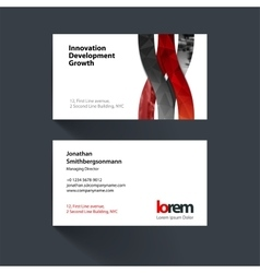 Business card template with wave soft vector