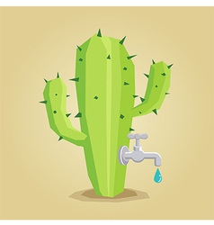 Cactus Faucet vector image vector image