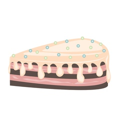 Chocolate cake icing vector