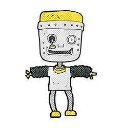 Comic cartoon robot vector