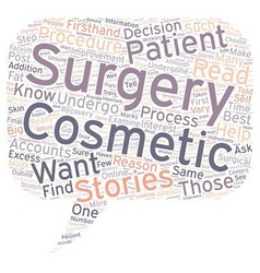 Cosmetic surgery patient stories why you should vector