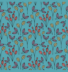 Decorative seamless pattern with branches vector