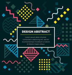 design abstract geometric pattern and background vector image