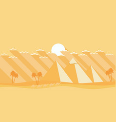 egyptian pyramids in a flat style deserted vector image vector image